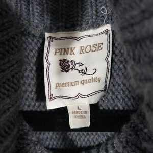 Pink Rose Sweaters - Pink Rose Cowl Neck Half Sleeve Sweater